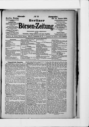 Berliner Börsen-Zeitung on Jan 14, 1889
