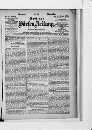 Berliner Börsen-Zeitung vom 15.01.1889