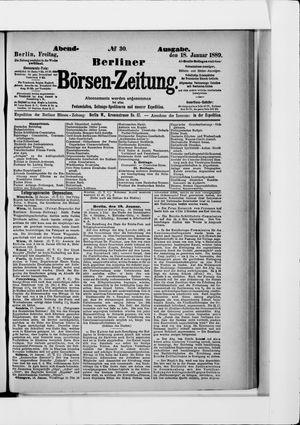 Berliner Börsen-Zeitung on Jan 18, 1889