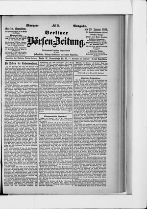 Berliner Börsen-Zeitung vom 19.01.1889