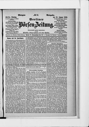 Berliner Börsen-Zeitung on Jan 20, 1889