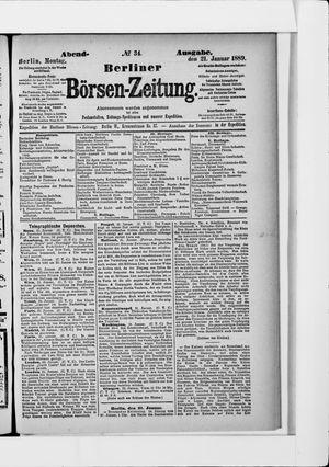 Berliner Börsen-Zeitung vom 21.01.1889