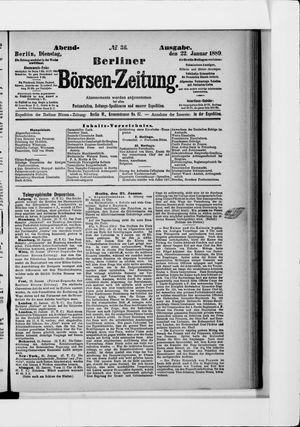 Berliner Börsen-Zeitung vom 22.01.1889