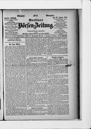 Berliner Börsen-Zeitung vom 23.01.1889