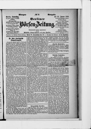 Berliner Börsen-Zeitung vom 24.01.1889