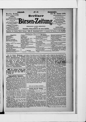 Berliner Börsen-Zeitung vom 25.01.1889