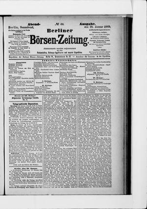 Berliner Börsen-Zeitung vom 26.01.1889