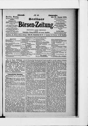 Berliner Börsen-Zeitung vom 28.01.1889