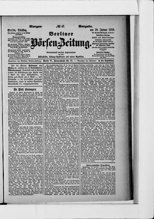 Berliner Börsen-Zeitung vom 29.01.1889