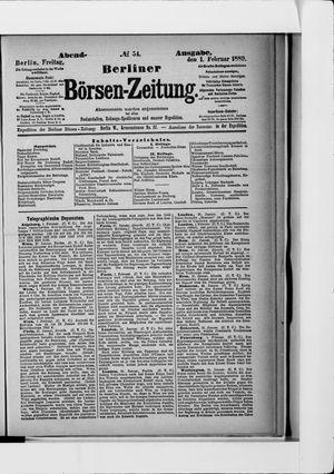 Berliner Börsen-Zeitung vom 01.02.1889