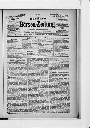 Berliner Börsen-Zeitung on Feb 2, 1889