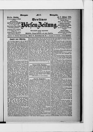 Berliner Börsen-Zeitung vom 03.02.1889