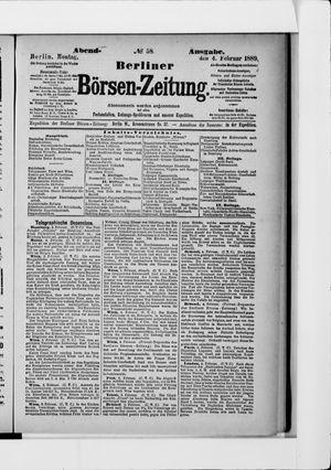 Berliner Börsen-Zeitung vom 04.02.1889