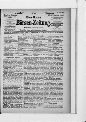 Berliner Börsen-Zeitung vom 05.02.1889