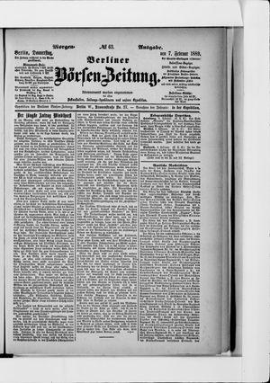 Berliner Börsen-Zeitung vom 07.02.1889