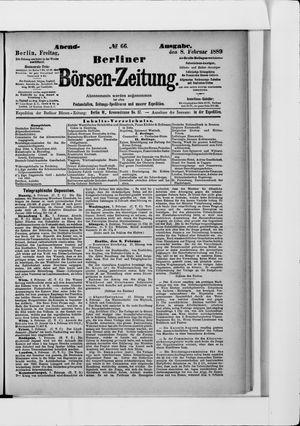 Berliner Börsen-Zeitung vom 08.02.1889