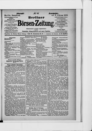 Berliner Börsen-Zeitung on Feb 9, 1889