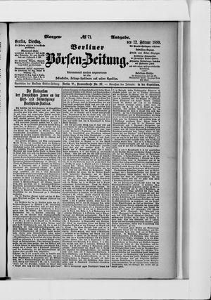 Berliner Börsen-Zeitung vom 12.02.1889