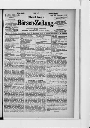 Berliner Börsen-Zeitung vom 13.02.1889