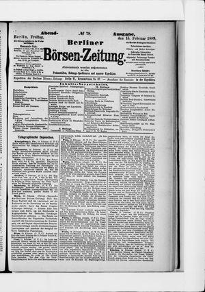Berliner Börsen-Zeitung on Feb 15, 1889