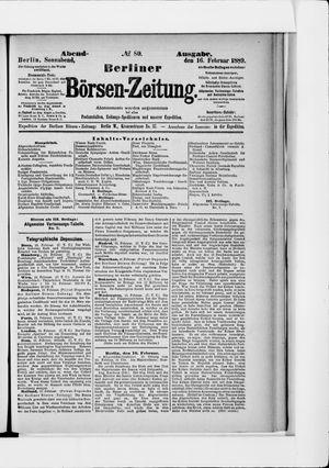 Berliner Börsen-Zeitung vom 16.02.1889