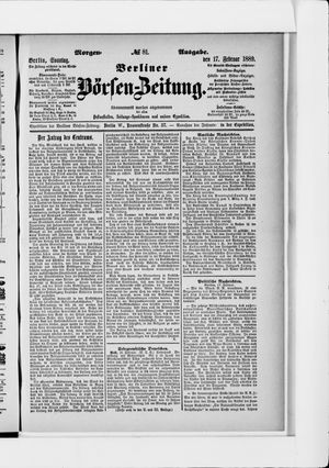 Berliner Börsen-Zeitung vom 17.02.1889