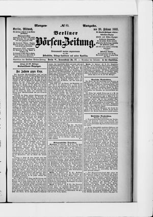 Berliner Börsen-Zeitung vom 20.02.1889