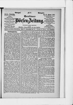 Berliner Börsen-Zeitung vom 21.02.1889