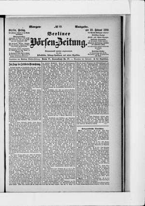 Berliner Börsen-Zeitung vom 22.02.1889