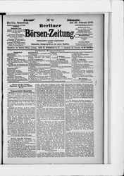 Berliner Börsenzeitung (23.02.1889)