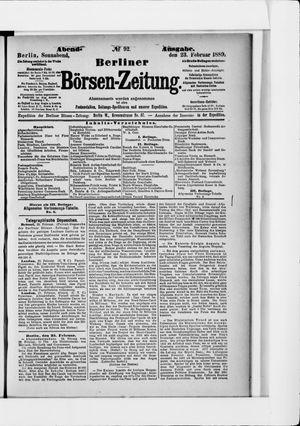 Berliner Börsen-Zeitung on Feb 23, 1889