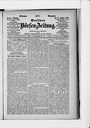 Berliner Börsen-Zeitung vom 27.02.1889