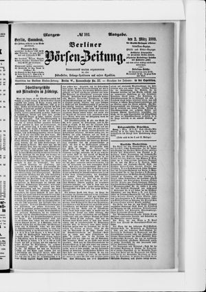 Berliner Börsen-Zeitung vom 02.03.1889