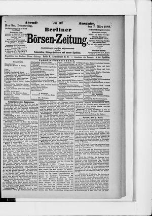 Berliner Börsen-Zeitung vom 07.03.1889