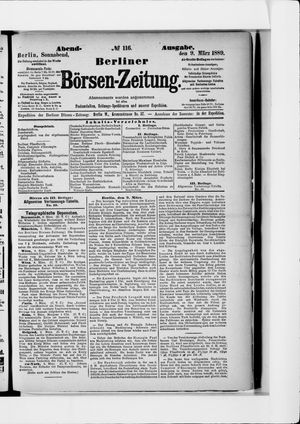 Berliner Börsen-Zeitung vom 09.03.1889