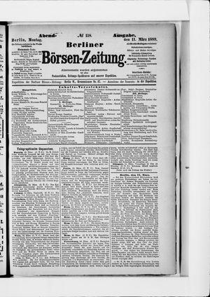 Berliner Börsen-Zeitung vom 11.03.1889