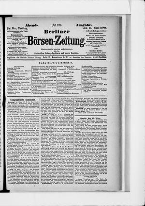 Berliner Börsen-Zeitung vom 15.03.1889