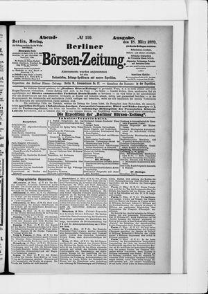 Berliner Börsen-Zeitung vom 18.03.1889