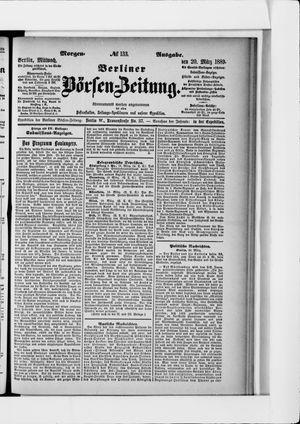 Berliner Börsen-Zeitung vom 20.03.1889