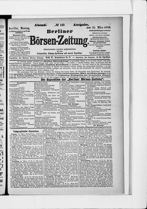Berliner Börsen-Zeitung vom 25.03.1889
