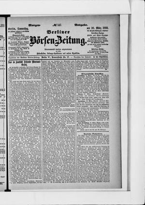 Berliner Börsen-Zeitung vom 28.03.1889