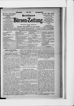 Berliner Börsen-Zeitung on Mar 30, 1889