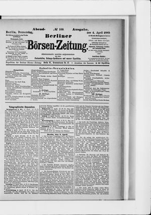 Berliner Börsen-Zeitung vom 04.04.1889