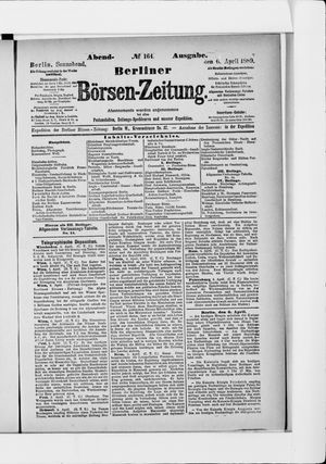Berliner Börsen-Zeitung on Apr 6, 1889