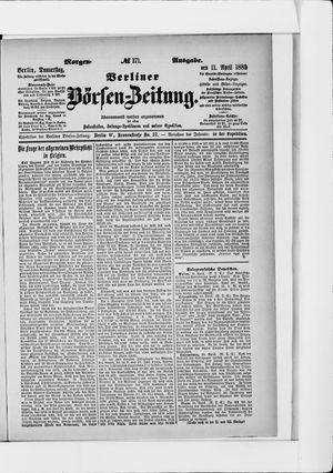 Berliner Börsen-Zeitung vom 11.04.1889