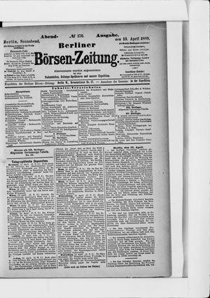 Berliner Börsen-Zeitung vom 13.04.1889