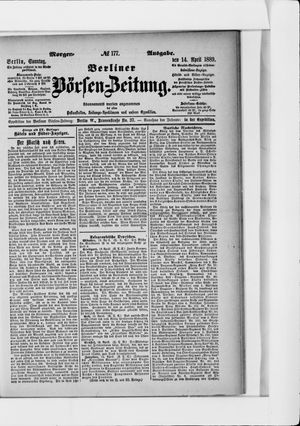 Berliner Börsen-Zeitung vom 14.04.1889