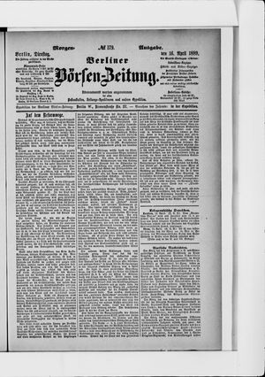 Berliner Börsen-Zeitung vom 16.04.1889