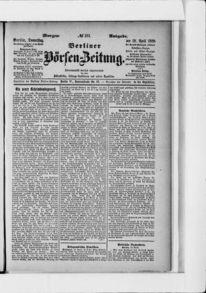 Berliner Börsen-Zeitung vom 18.04.1889