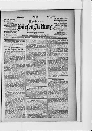 Berliner Börsen-Zeitung vom 19.04.1889